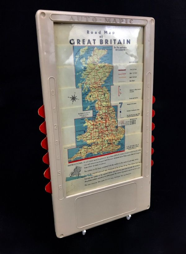 Vintage 1950s / 60s Auto-Mapic Road Map Of Great Britain